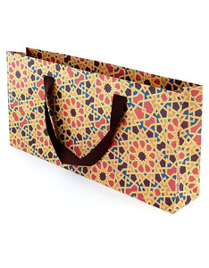 Colors & Shapes Oriental Mosaic Red Craft Paper Gift Bag