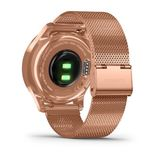 Garmin vivomove Luxe 42mm 18K Rose Gold PVD Stainless Steel Case with Rose Gold Milanese Band Smart Watch