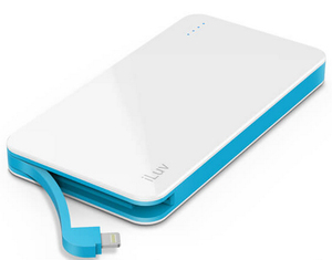 iLuv Mypower 5000Mah White Power Bank with Lightning Cable