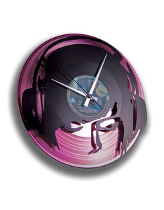 Disc O Clock Djane Work Pink Vinyl Clock