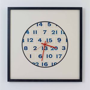 Vintage Playing Cards Numbers Clock