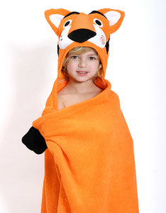 Zoocchini Travis The Tiger Orange Bath Towel