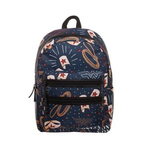 Bioworld Wonder Woman Double Zip Backpack