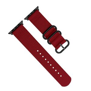Promate Nylox-38 Red Trendy Nylon Fiber with Metal Deployment Buckle for 38mm Apple Watch