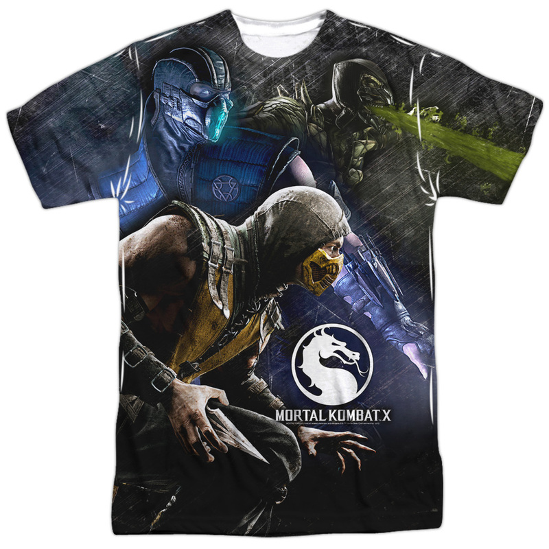 Mortal Kombat X Three Of A Kind-S S Men's Poly Crew White Xl