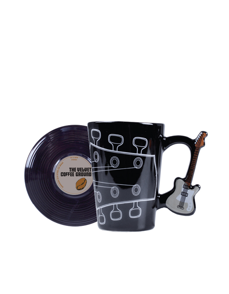 Wild Eye Cup & Saucer Music Velvet Coffee Set Of 2