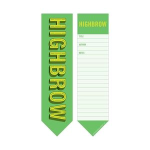 Knock Knock High Brow Low Brow Bookmark Pad