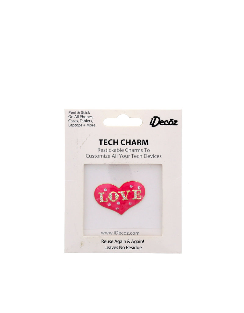 Love Heart Bow W/Cubic Zirconia Crystals Sticker