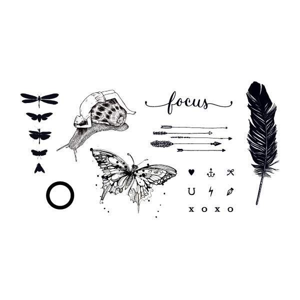 Tattly Remix One Temporary Tattoo Set