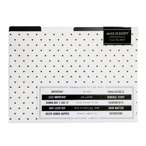 Alice Scott File Folders [Set of 4]