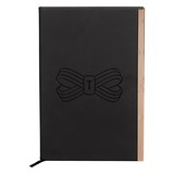 Ted Baker A5 Soft Touch Notebook Black Bow