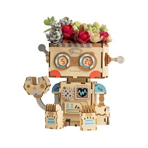 Robotime Rolife Pot Robot Flower Pot DIY Kit