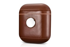 More.Plus Fidget Spinner Vintage Leather Case Brown for AirPods
