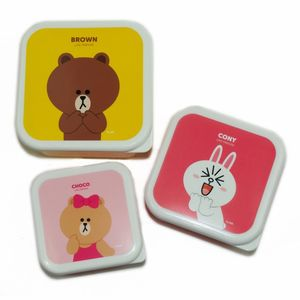 Line Friends Square Storage Boxes [Set of 3]