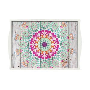 Joud Mandala Tray White Medium