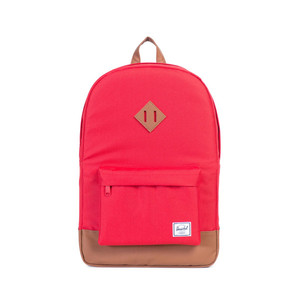 Herschel Heritage Red/Tan Synthetic Leather Backpack