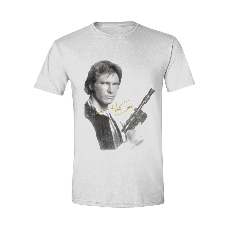 Time City Star Wars Han Solo Portrait White Men\'s T-Shirt | Tops & T ...