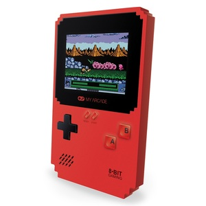 My Arcade Pixel Classic Portable Console with 300 Data East Games Red