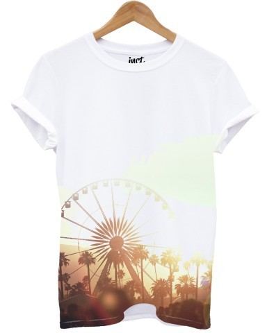 Big Wheel Front All Over White Unisex T-Shirt Xl