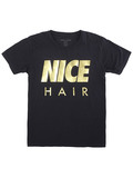 Alex & Chloe Nice Hair Black/Gold Tshirt M