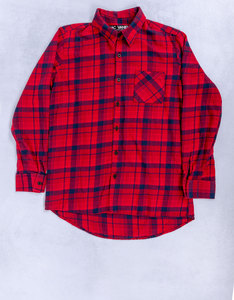 Turn The Music Up Custom Flannel Red Plaid