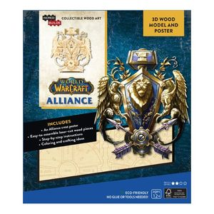 Incredibuilds World Of Warcraft Alliance 3D Wood Model And Poster