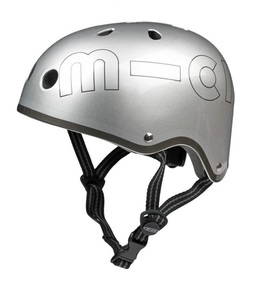 Micro Helmet Metallic Silver M [5-9 Years]