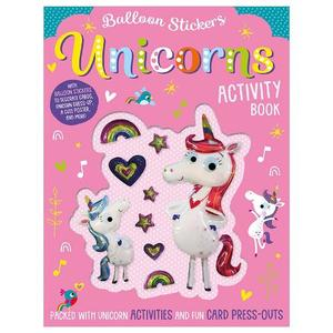 Balloon Sticker Activity Books - Unicorns