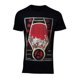 389b39a79794dc Difuzed Avengers Constructivism Poster Men's T-Shirt Black