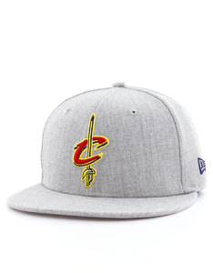 New Era NBA Heather Fitted Cavaliers Gray Cap