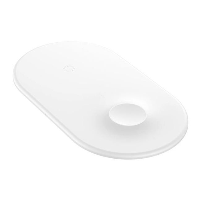 Baseus Smart 2-in-1 Wireless Charger White