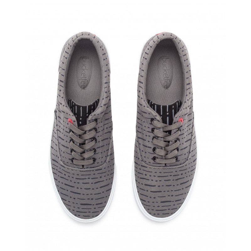 Bucketfeet The Dro Charcoal Low Top Canvas Lace Men's Shoes