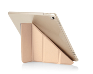 Pipetto Origami Case Champagne Gold & Clear for iPad 10.5-Inch