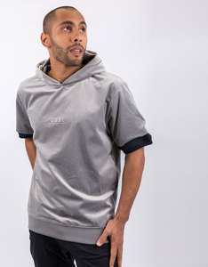 Cayler & Sons New Age Short Sleeve Knitted Grey Hoodie
