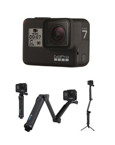 GoPro HERO7 Action Camera Black + GoPro 3-Way Camera Mount