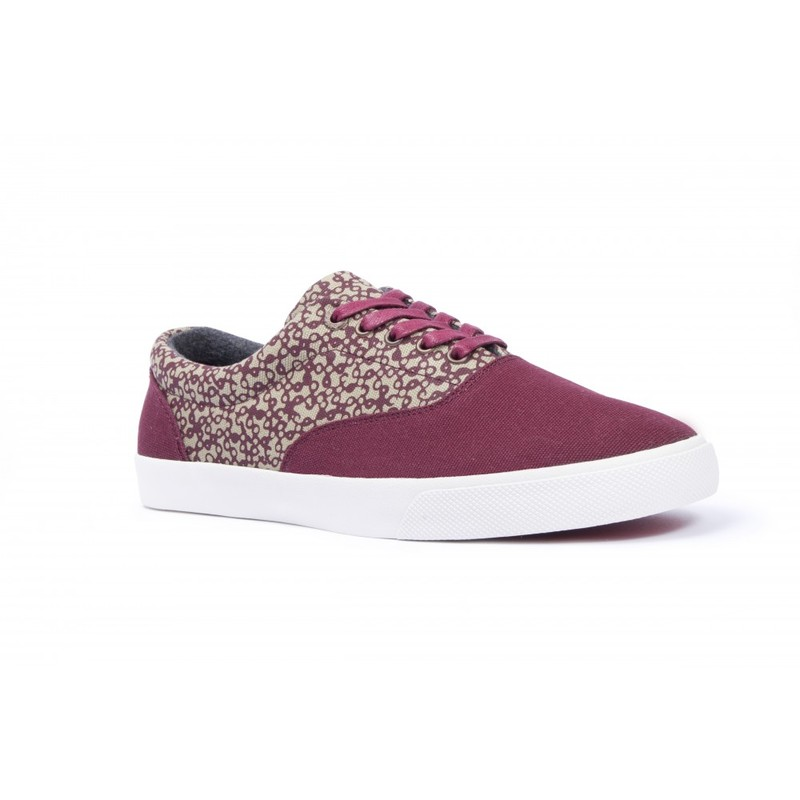 Bucketfeet Mystery Burgundy Low Top Canvas Lace Men'S  Shoes Size 8