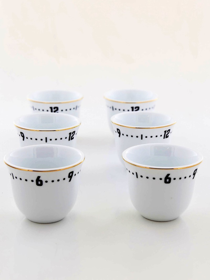 Rosanna Coffee Cups Clock [Set of 6]