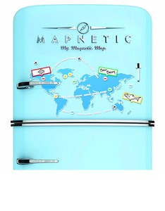 Luckies Mapnetic Magnetic Dry Wipe World Map Set