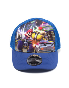 Difuzed Nintendo Mario Cart Front Print Curved Bill Kids Cap 53 Cm Multicolor