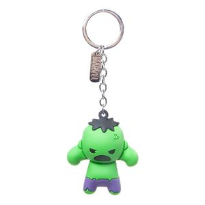 Difuzed Marvel The Hulk Character 3D Rubber Keychain