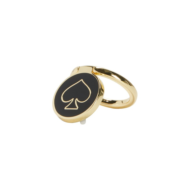 ff4021e161385 Kate Spade NY Stability Ring Gold Black Enamel for Smartphones ...