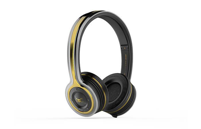 monster roc freedom black platinum bluetooth on ear headphones on ear headphones headphones. Black Bedroom Furniture Sets. Home Design Ideas