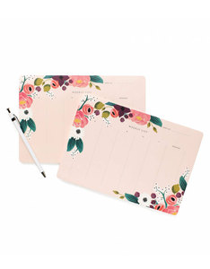 Rifle Paper Co Pink Floral Weekly Deskpad