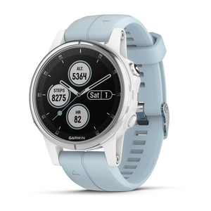 Garmin Fenix 5S Plus 42mm White with Seafoam Band