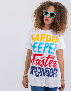 Happiness Harder Basic Flammed T-Shirt