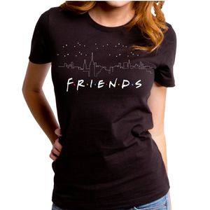 Friends Cityspace's Women's T-Shirt Juniors Black
