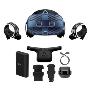 HTC VIVE Cosmos VR Headset + VIVE Cosmos Wireless Adapter & Attachment Kit + HTC Power Bank [Bundle]