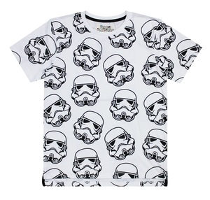 Star Wars Stormtrooper Repeat Print White T-Shirt