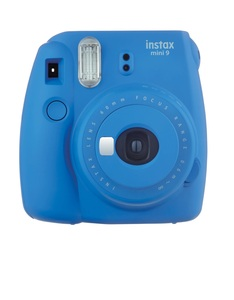 Fujifilm Instax Camera Mini9 Cobalt Blue +Instax Mini Film Single Pack
