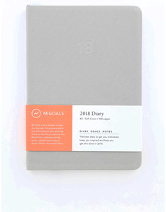 Migoals Minimal Diary Soft Cover A5 Grey 2018 Planner